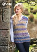 Wendy Ladies Tank Top Roam Knitting Pattern 5793  4 Ply