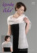 Wendy Ladies Wrap Air Knitting Pattern 5802  4 Ply