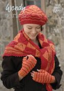 Wendy Ladies Hat, Scarf & Mittens Merino Knitting Pattern 5810  4 Ply