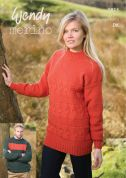 Wendy Mens & Ladies Sweaters Merino Knitting Pattern 5813  DK