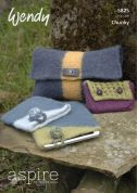 Wendy Accessories Felted Bags & Purses Aspire Knitting Pattern 5825  Chunky