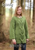 Wendy Ladies Sweater Serenity Knitting Pattern 5837  Chunky