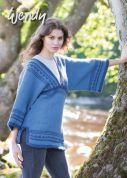 Wendy Ladies Tunic Top Merino, Serenity & Mode Knitting Pattern 5853  Chunky