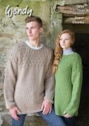 Wendy Mens & Ladies Sweaters Serenity Knitting Pattern 5859  Super Chunky