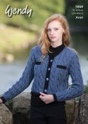 Wendy Ladies Jacket Knitting Pattern 5868  Aran