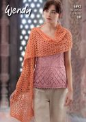 Wendy Ladies Top & Wrap Supreme Knitting Pattern 5892  DK