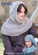 Wendy Ladies Hats & Cowl Scarves Evolve Knitting Pattern 5900  Chunky