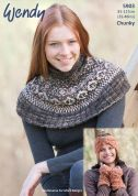 Wendy Ladies Capelet, Headband & Wrist Warmers Evolve Knitting Pattern 5903  Chunky