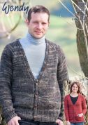 Wendy Mens & Ladies Cardigans Evolve Knitting Pattern 5906  Chunky