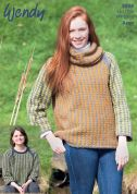 Wendy Ladies Sweaters Cairn Knitting Pattern 5908  Aran