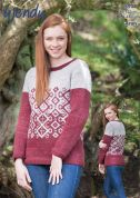 Wendy Ladies Sweater Cairn Knitting Pattern 5912  Aran