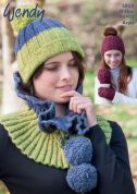 Wendy Ladies Hats, Cowl & Mittens Cairn Knitting Pattern 5913  Aran