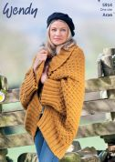 Wendy Ladies Jacket Cairn Knitting Pattern 5914  Aran