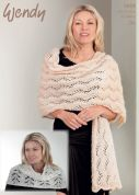 Wendy Ladies Wrap & Capelet Celeste Knitting Pattern 5919  DK