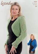 Wendy Ladies Boleros Celeste Knitting Pattern 5924  DK