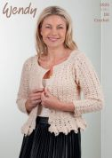 Wendy Ladies Cardigan Crochet Pattern 5925  DK