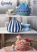 Wendy Home Tea Cosies Merino & Mode Knitting Pattern 5927  DK