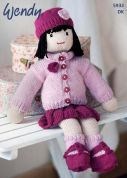 Wendy Doll Toy Merino Knitting Pattern 5933  DK