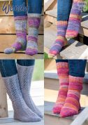 Wendy Ladies Socks Roam Knitting Pattern 5936  4 Ply