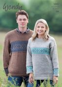 Wendy Mens & Ladies Sweaters Ramsdale Knitting Pattern 5947  DK