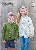 Wendy Childrens Cardigans Knitting Pattern 5949  Aran