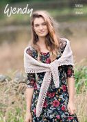 Wendy Ladies Wrap & Shawl Knitting Pattern 5954  Aran