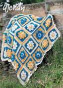Wendy Home Throw Crochet Pattern 5957  Aran