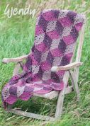 Wendy Home Throw Crochet Pattern 5958  Aran