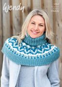 Wendy Ladies Capelet Mode, Merino & Serenity Knitting Pattern 5964  Chunky