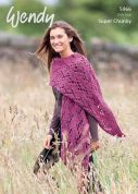 Wendy Ladies Wrap Serenity Knitting Pattern 5966  Super Chunky