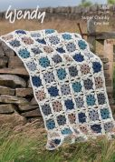 Wendy Home Blanket Throw Serenity Crochet Pattern 5968  Super Chunky