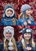 Wendy Childrens Novelty Hats Eider Knitting Pattern 5969  Chunky