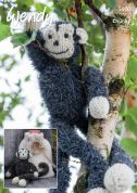 Wendy Monkey Toy & Bag Eider Knitting Pattern 5970  DK, Chunky