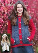 Wendy Ladies & Girls Jackets Eider Knitting Pattern 5973  Chunky