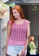 Wendy Ladies Top & Shawl Supreme Crochet Pattern 5976  4 Ply