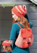 Wendy Ladies Hat & Rucksack Bag Crochet Pattern 5978  DK