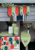 Wendy Home Window Decoration, Table Runner, Jar Covers & Bunting Supreme Knitting Pattern 5983  DK