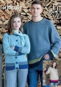 Wendy Mens & Ladies Sweater & Cardigan Pixile Knitting Pattern 5990  DK