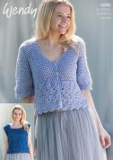 Wendy Ladies Top & Cardigan Celeste Crochet Pattern 6000  DK