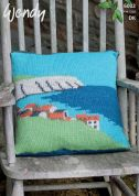 Wendy Home Landscape Picture Cushion Ramsdale Knitting Pattern 6002  DK
