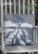 Wendy Home Landscape Picture Cushion Ramsdale Knitting Pattern 6003  DK