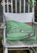 Wendy Home Landscape Picture Cushion Ramsdale Knitting Pattern 6004  DK