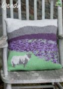 Wendy Home Landscape Picture Cushion Ramsdale Knitting Pattern 6005  DK