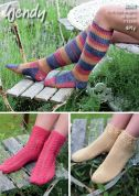 Wendy Ladies Socks Roam Knitting Pattern 6009  4 Ply