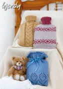Wendy Home Hot Water Bottle Covers Merino Knitting Pattern 6010  Chunky