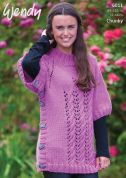 Wendy Ladies Poncho Sweater Mode Knitting Pattern 6011  Chunky