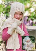 Wendy Childrens Hats, Scarves & Mittens Knitting Pattern 6021  Aran