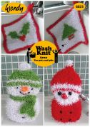 Wendy Home Christmas Cloths & Sponges Wash Knit Knitting Pattern 6023  Aran