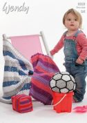Wendy Childrens Play Mat, Cube & Football Supreme Crochet Pattern 6032  DK