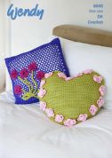 Wendy Home Cushions Love It Crochet Pattern 6040  DK